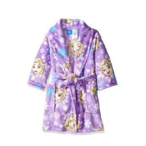 Disney Girls 7/8 Purple Elsa Plush Robe